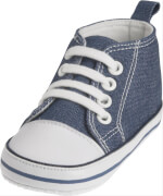 Playshoes Canvas-Turnschuh, blau, Gr. 20